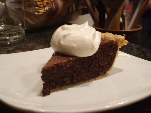Chocolate Chess Pie | 2frugalfoodies