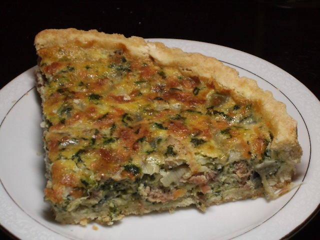 Sausage Spinach And Onion Quiche 2frugalfoodies