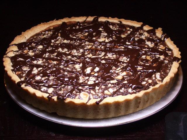 Chocolate Orange Hazelnut Tart | 2frugalfoodies