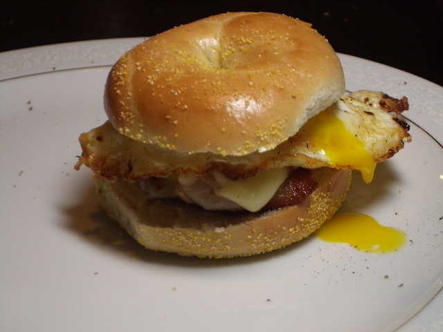 Egg Bacon And Cheese Bagel 2frugalfoodies