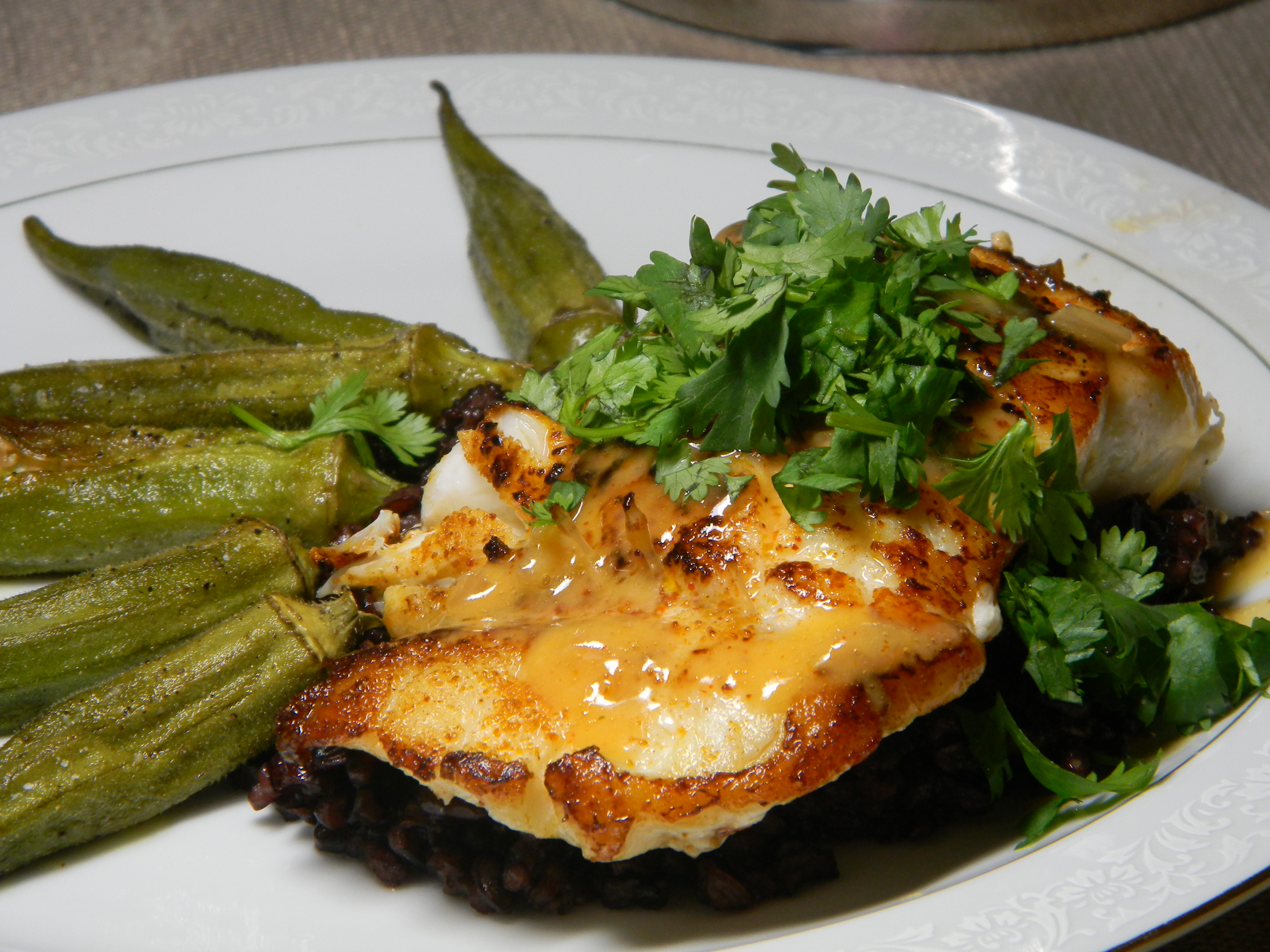 Pan Roasted Grouper With Coriander Beurre Blanc